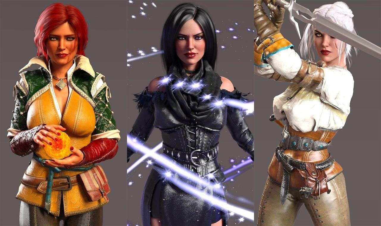 Triss, Yen & Ciri